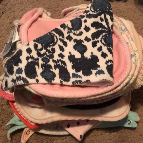Other - LOT of baby girl bibs